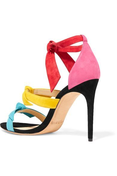 Alexandre Birman - Lolita Bow-embellished Suede Sandals - Fuchsia - IT40