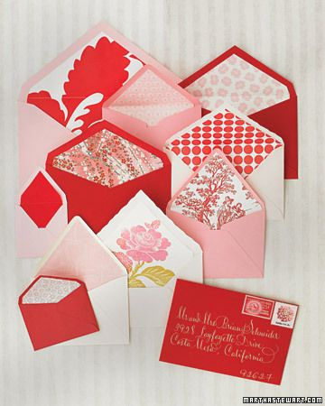 Lined envelopes from Martha