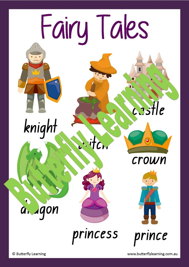 Fairy Tales Wall Words
