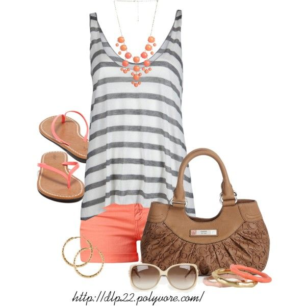 """""""Coral Summer"""" by dlp22 on Polyvore"""