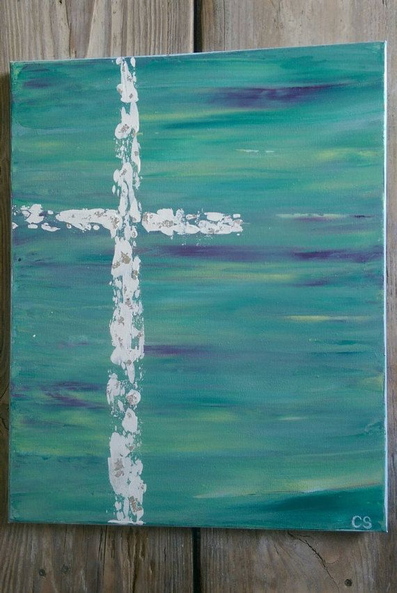 Abstract Cross canvas painting