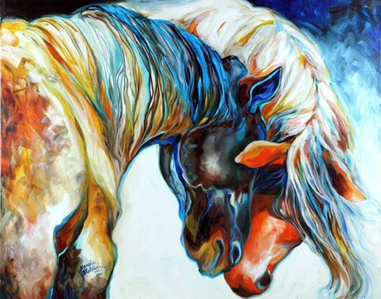 Paintings...I need to buy this. its everything I want for a wall painting with horses in it!!! I wish I knew who painted this and could find out how much it would cost to buy one
