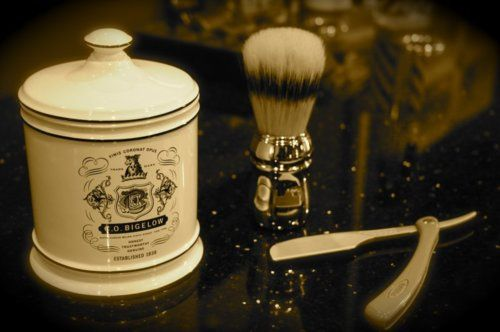 I shave with a safety razor, but I plan to get a mug like this one day--and I'm always tempted to try shaving with a straight razor. Tempted only.