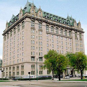 "The Fort Garry Hotel is a historic hotel in Downtown Winnipeg, Manitoba. Built in 1913 by the Grand Trunk Pacific Railway, it is located one block from the railway's Union Station, and was the tallest structure in the city when it was completed. Like other Canadian railway hotels, it was constructed in the ""château style"" (also termed the ""neo-château"" or ""châteauesque"" style), which as a result the hotels became known as a distinctly Canadian form of architecture."