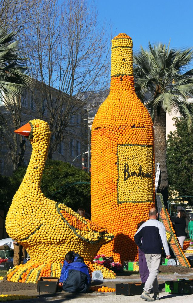 The 79th annual Fete du Citron in Menton, France.  Sculptures made out of fruit (mainly oranges and lemons).