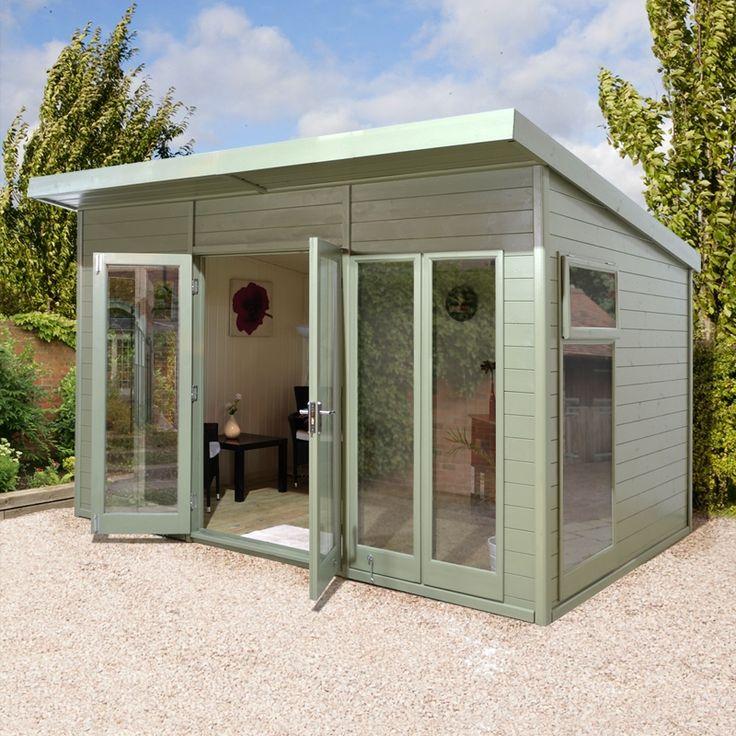 12x10 Ultimate Pent Garden Room Fully Glazed Summer
