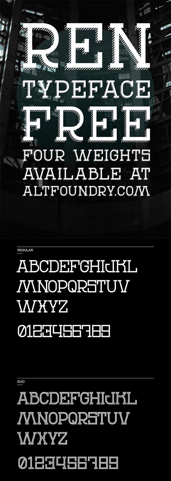Free REN Typeface Font