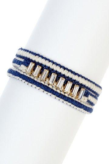 Baguette Rhinestone Wrap Bracelet by Chan Luu
