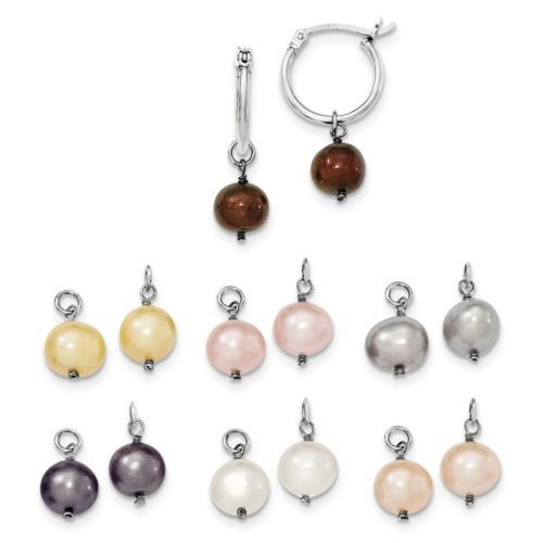 Fine Jewelry Cultured Freshwater Pearl Earring 7-PC Set n8dCZ