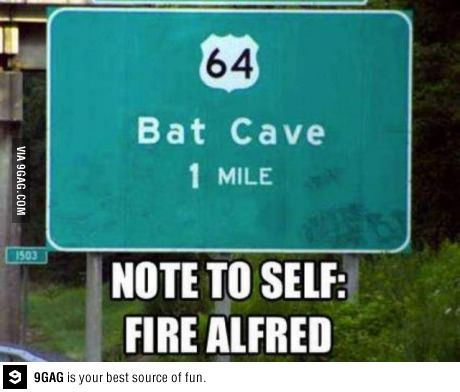 Alfred! You had one job!