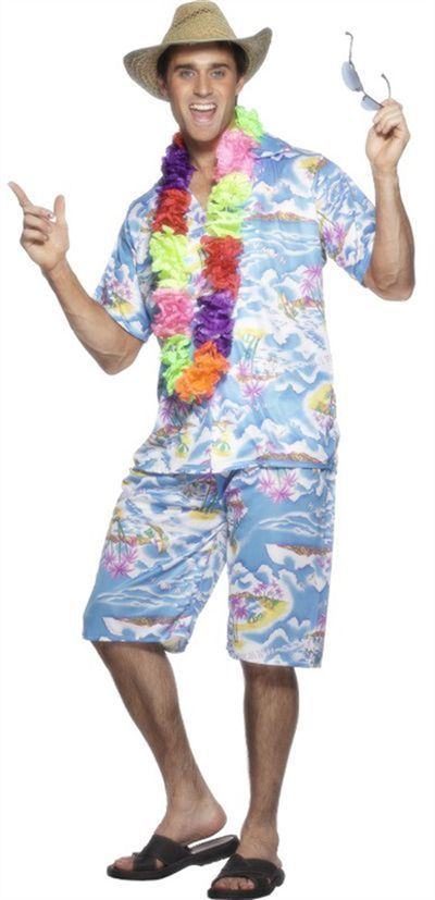 hawaiian costume men - Google Search