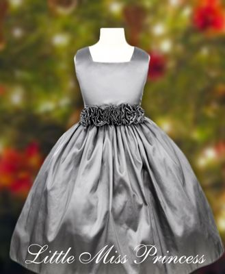 Elegant Silver Christmas Dress:(Girls Christmas Dresses)