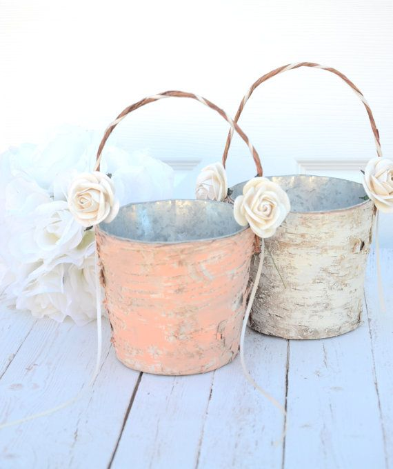 Flower girl basket  boho chic Spring 2014 by BellaBrideCreations, $32.00