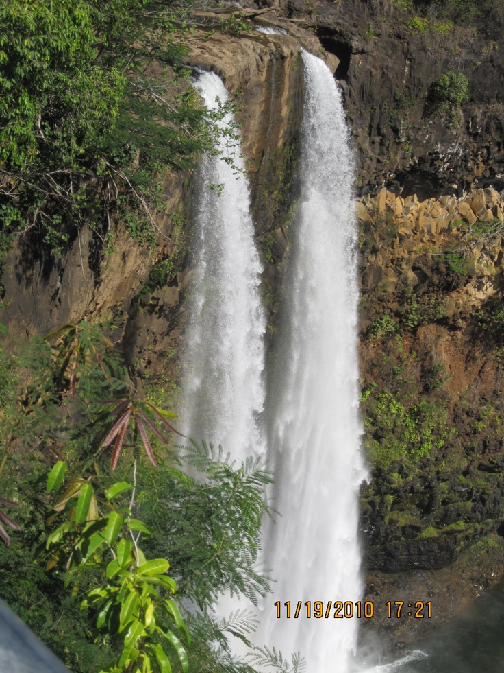 "Shot by Kauai visitor, Kate Smith at Wailua Falls, who says ""Kauai Waterfall that you can drive up to!"""