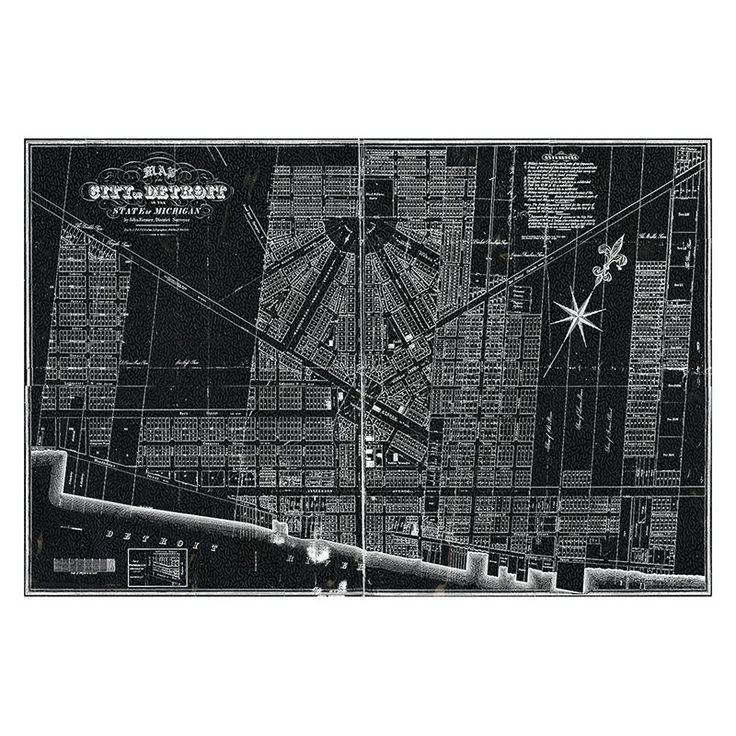 Detroit In World Map%0A Hatcher  u     Ethan Detroit Map      Canvas Art  HE        X   CANV XHD HE