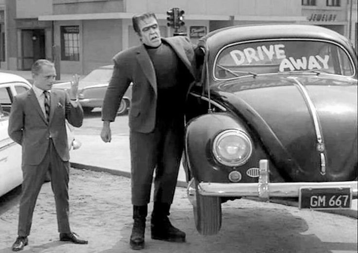 Herman munster cash and carry bug beetle the vw for Garage volkswagen munster