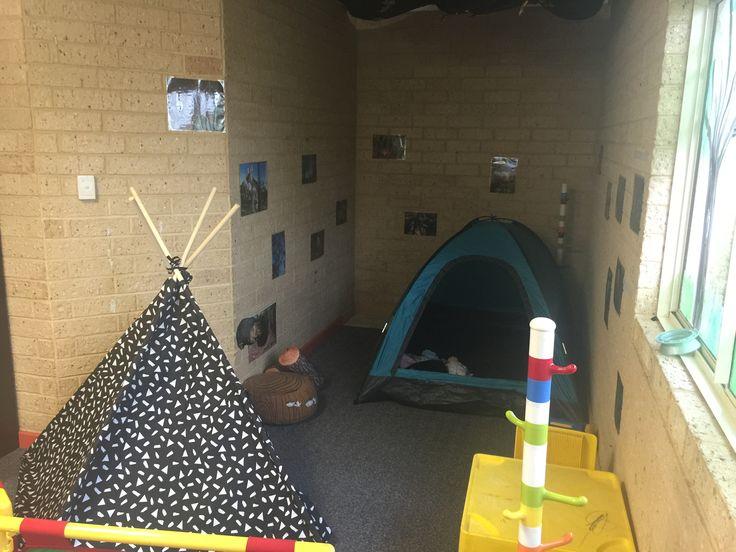 Australian Bush theme-camping under the stars home corner