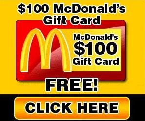 Scam Alert: Free $100 McDonalds Gift Card and Voucher: McDonald customers beware of the gift card and voucher scams below. Cyber-criminals have resurrected this old scam by creating fake social networking McDonald pages and posts, and are luring persons to them by claiming that they can win a free gift card or voucher. The gift card or voucher dollar amount varies....