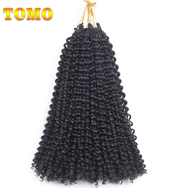 TOMO Synthetic Hair Brands Freetress Kinkly Crochet Braids 14 Inch Brown Blonde Crotchet Braiding Hair Colors 60g/Pack