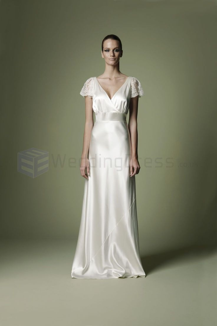 Vintage Style Wedding Dresses | ... Crossover Bodice Deep V-Neckline Vintage Wedding Dress (NTT01