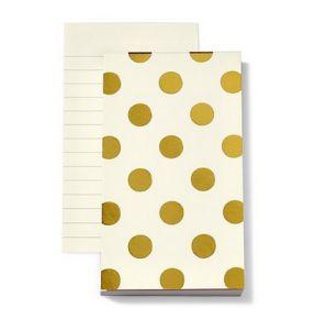 Kate Spade New York Small Notepad, Gold Dots