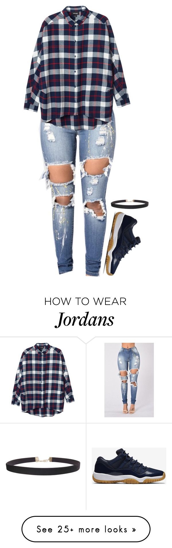 """Untitled #1538"" by kelly213 on Polyvore featuring Monki, NIKE and Humble Chic"