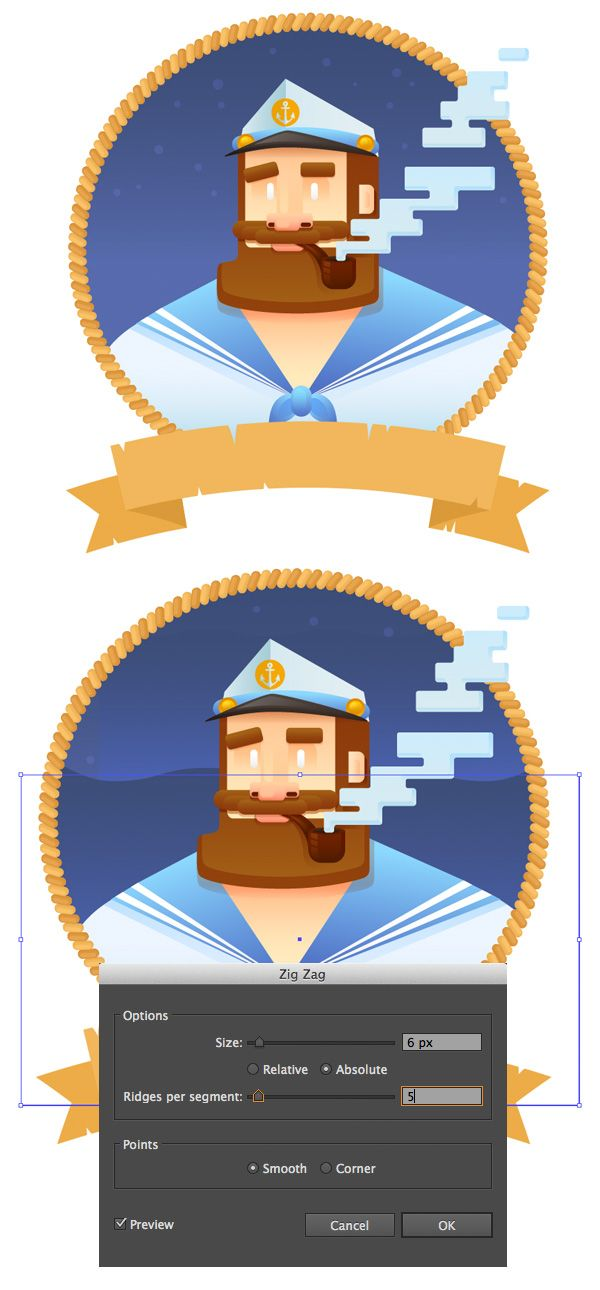 How to Create a Stylized Captain's Portrait in Adobe Illustrator