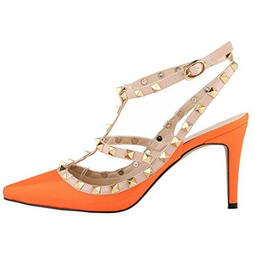 EKS Damenschuhe Orange Niets Spitze Gurt Stilett Mid Heels Sandalen 41 EU - http://on-line-kaufen.de/eks/41-eu-eks-damenschuhe-fsaameaa-niets-spitze-gurt-15