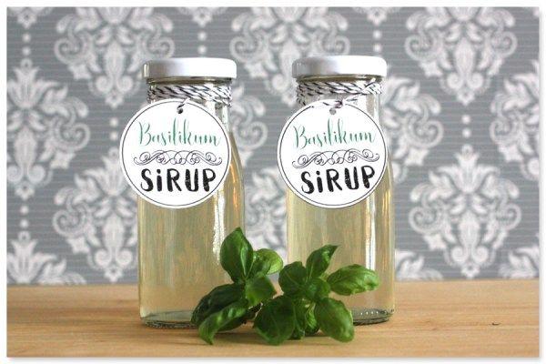 mitbringsel für Freunde Gastgeschenk DIY Sirup selber machen Basilikum www.pickposh.de