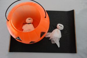 Ghosts for bean bags   Might use for trunk or treat!