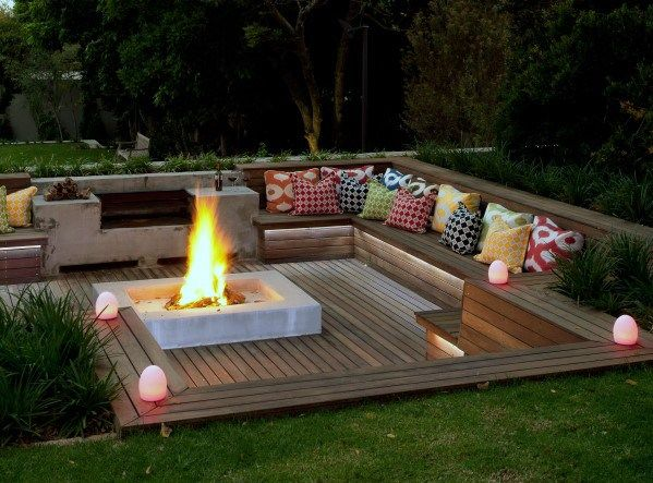 Top 50 Best Deck Fire Pit Ideas Wood, Can You Put An Outdoor Fire Pit On A Wood Deck
