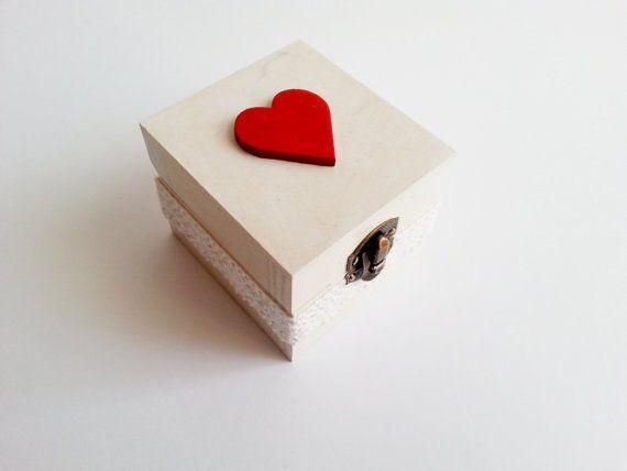 Wedding rings box/engagement ring box wedding by MKedraDecoupage, $23.00