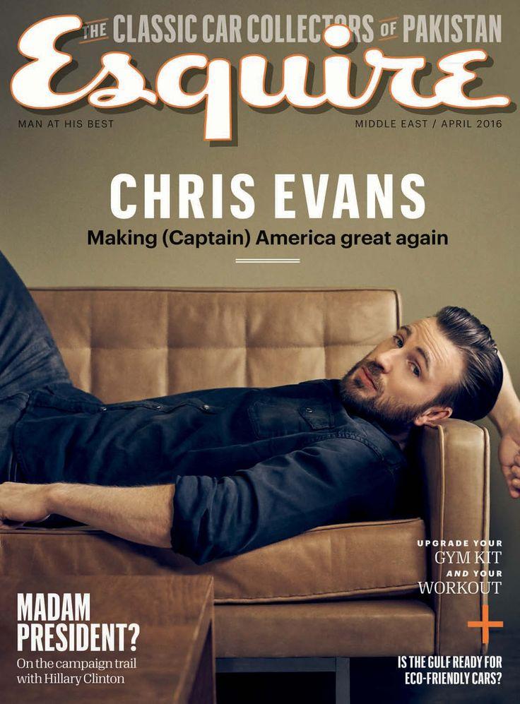 Chris Evan por Kurt Iswarienko para Esquire Middle East Abril 2016