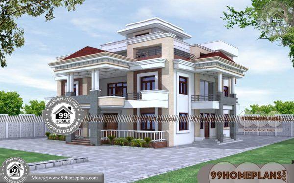 New Home Design Plans 90 Small Triple Storey House Plans Designs Architectural House Plans House Design Photos Kerala House Design