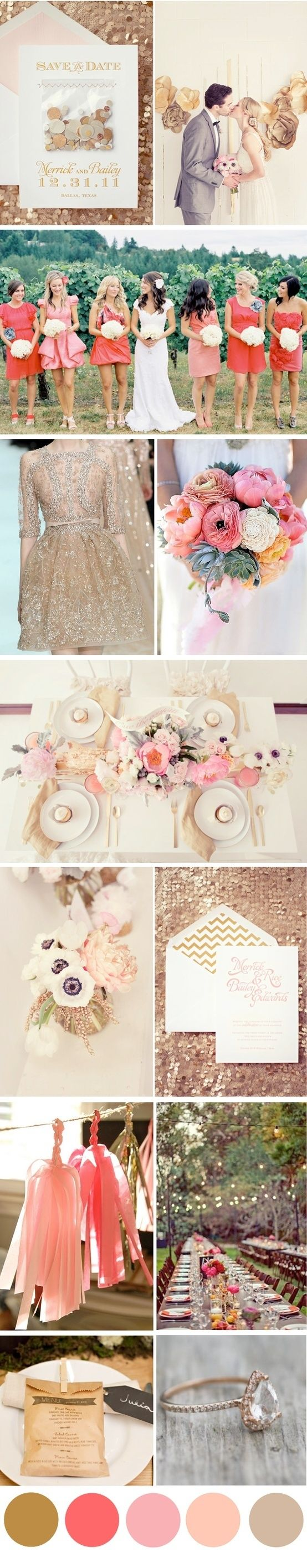Gold and blush.