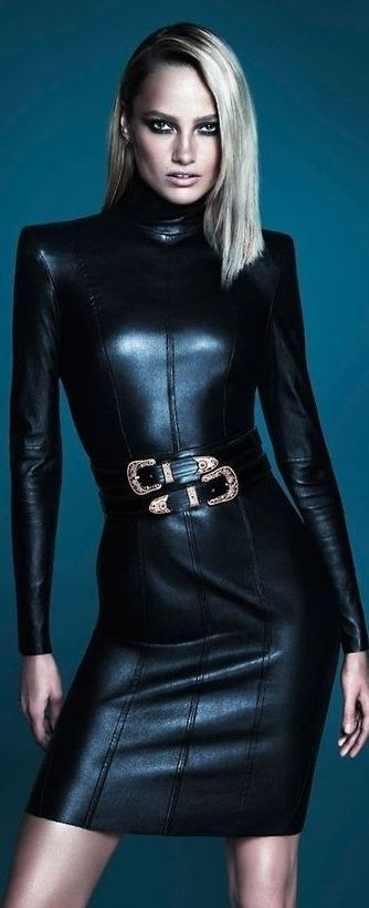 Leather Chic. - #DivaLuxa with #Attitude -#Luxurydotcom                                                                                                                                                      More