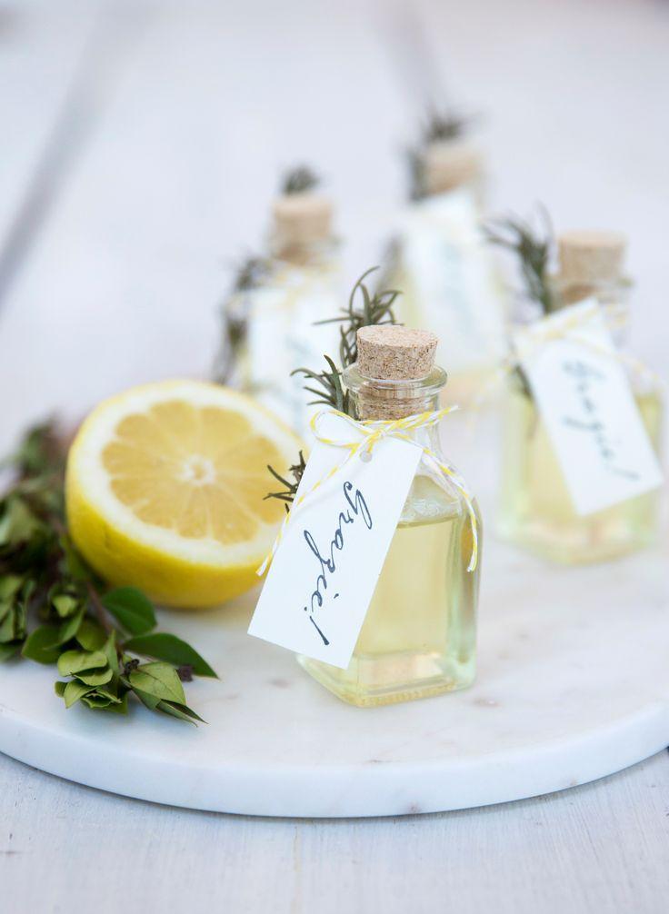 Fresh lemon olive oil wedding favors 17