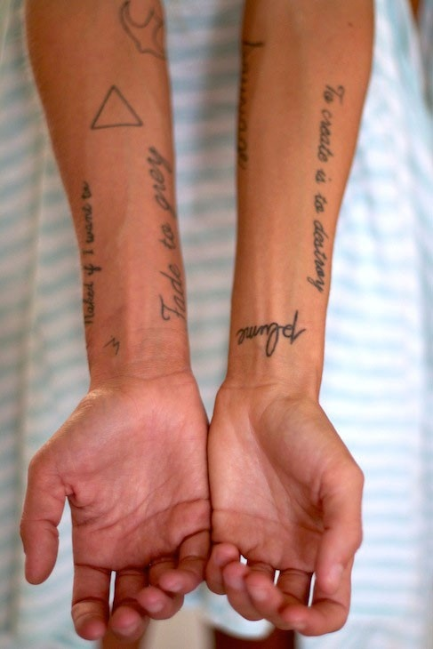 Arm Tattoos #9Wshoelabs  Can't tell if that's a girl or a guys arm...