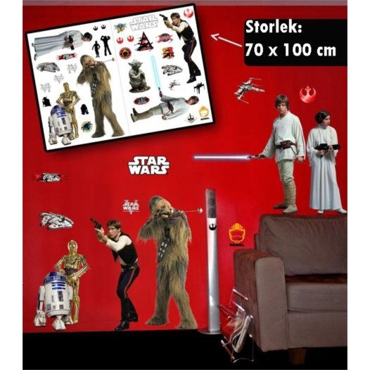 Disney - Star Wars Wallies Väggdekaler