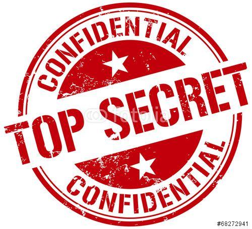 Vector: top secret stamp