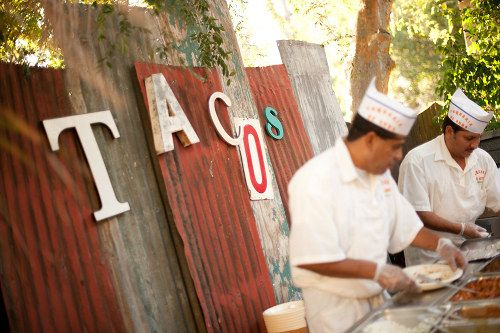 Hire a taco cart for your party instead of cooking.