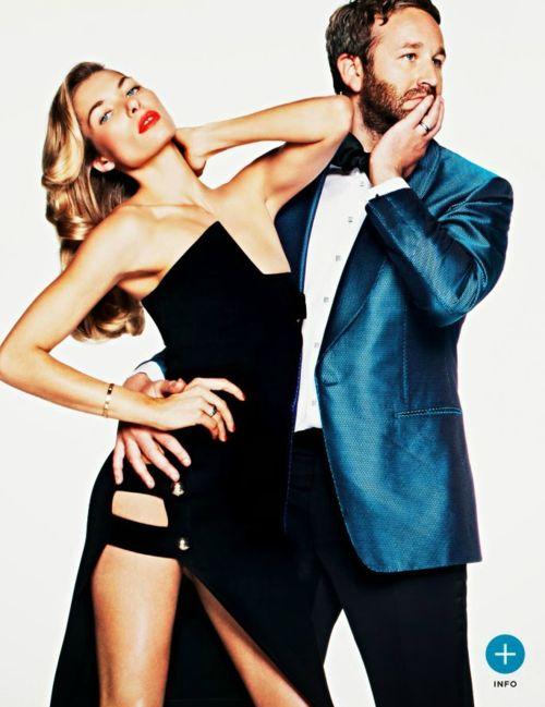 Jessica Hart and Chris O'Dowd for GQ Magazine UK April 2014