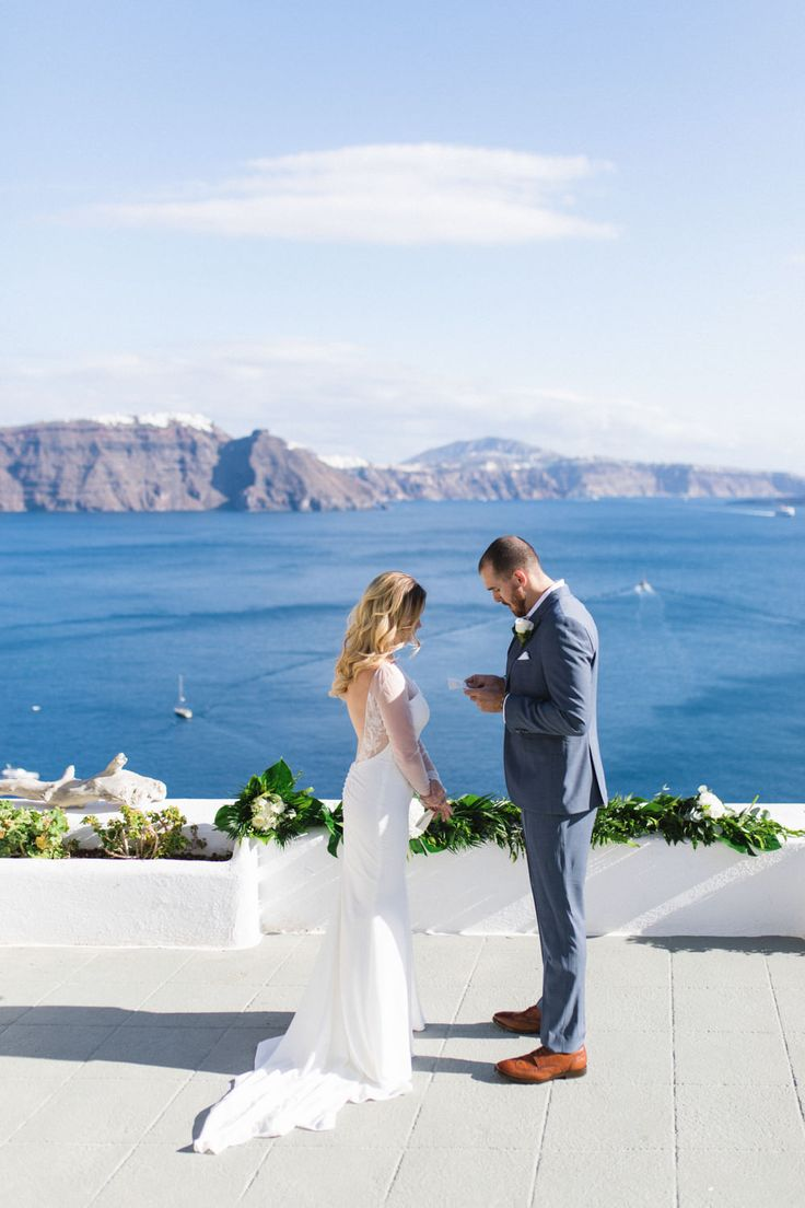wedding packages western australia%0A www annaroussos com Romantic elopement wedding in Santorini  Greece wedding  inspiration  elopement
