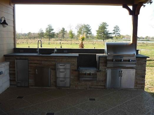 88 best images about outdoor kitchen back porch on pinterest for Outdoor kitchen under deck