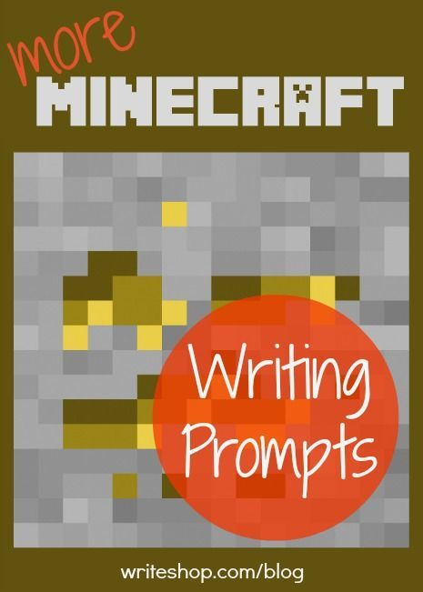 Capture your reluctant writer's interest with six new Minecraft writing prompts that encourage descriptive, narrative, and informative writing. - pinned by @PediaStaff – Please Visit ht.ly/63sNt for all our pediatric therapy pins