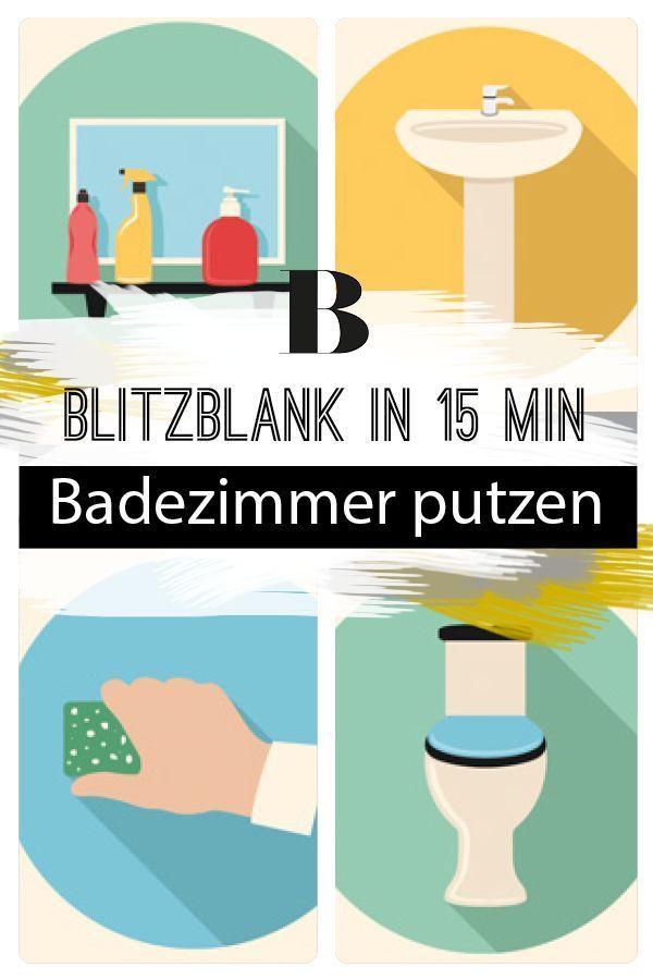 Bad putzen - blitzblank in 15 Minuten | Haushalt | Badezimmer putzen ...