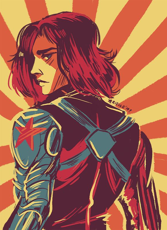 Bucky Barnes/Winter Soldier, palette 15! I loved working with this color combination. Props to MCU for finally giving me a good reason to practice drawing men.