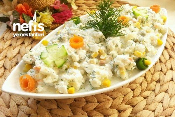Kaşık Kaşık Yedirten Karnabahar Salatası Tarifi nasıl yapılır? 10.067 kişinin defterindeki bu tarifin resimli anlatımı ve deneyenlerin fotoğrafları burada. Yazar: Yeliz'in Tatlı Mutfağı