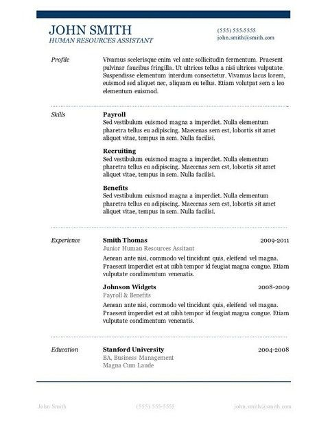 Downloadable Resume Templates With Pictures