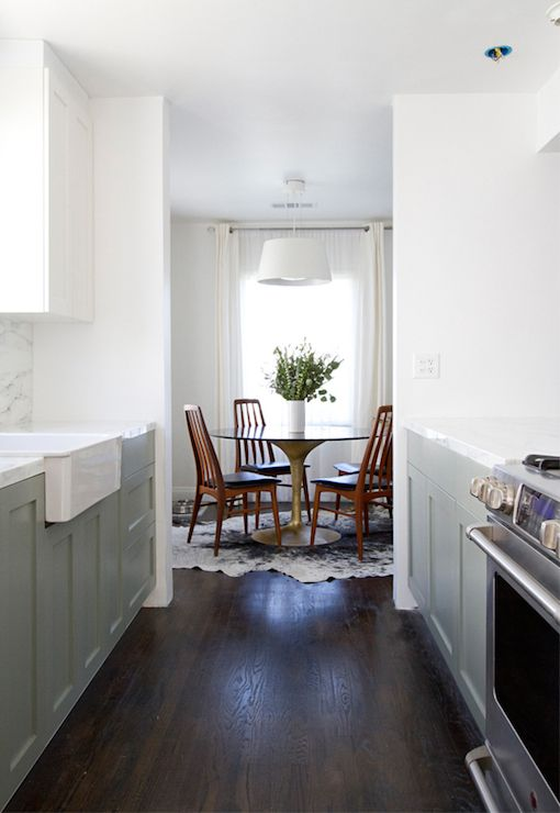 Source Smitten Studio Two Tone Kitchen With Base Cabinets Painted Gray Farrow And Ball